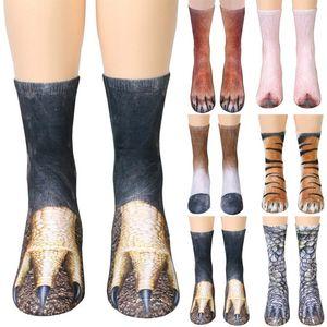 3D Tier Fuß Huf Socken Cosplay Printed Katze Hund Tiger Pfote Füße Socken für Erwachsene Kinder Weihnachten Hause Warme Strumpf Geschenke WX9-822