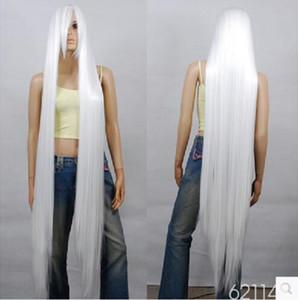 도매 150cm 엑스트라 롱 화이트 코스프레 가발 - 60 인치 고온 - Cosplay + Wig Lace Cap