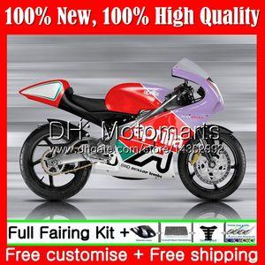 Фиолетовый красный корпус для Aprilia RS4 RS125 99 00 01 02 03 04 05 RS-125 4MT12 RS125 R 125 1999 2000 2001 2003 04 2005 обтекатель кузова
