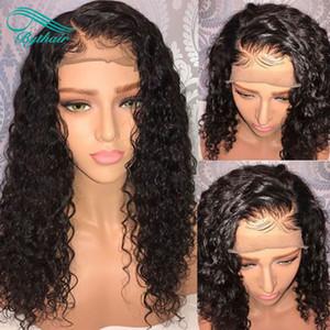 Bythair 360 Lace Wig Deep Curly Pré épilée Brésilienne Vierge de Cheveux Humains 360 Perruque 130% Densité Blanchie Noeuds Avec Des Cheveux De Bébé
