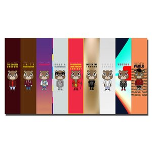 카니 예 웨스트 랩 힙합 뮤직 스타 투어 만화 포스터 모던 한 Unframed Wall Pictures 추상 캔버스 홈 데코레이션