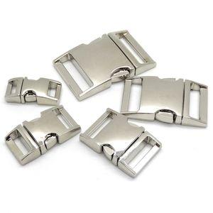 Gebogene Metallschnalle der seitlichen Freigabe-10pcs / lot für Beutel DIY Paracord Wölbungen für Armband