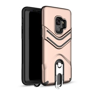 Kickstand Phone Case with Hanging Ring Hybrid Armor Back Cover for iPhone X 8 7 Plus Samsung Note8 S9 S9 plus Oppbag