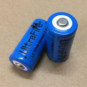 Alta calidad azul UltreFire batería CR123A / 16340 880mAh 3.7 V batería de litio recargable envío gratis