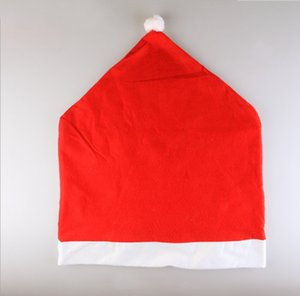 Santa Claus Chair Covers Hat Home Party Christmas Dinner Table Party Christmas Decoration