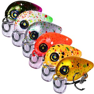 Colorful Painted big Head Small Size Crank Laser Fishing lure 6colors 2.5g 3cm Freshwater Hard Bait