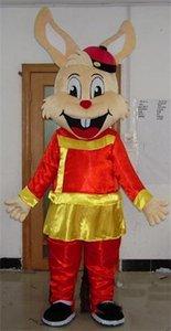 2018 Costume da mascotte coniglietta marrone caldo di alta qualità con abiti della dinastia Qing da indossare da adulto