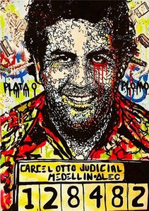 Alec Monopoly pintado à mão HD Imprimir óleo Graffiti Street Art pintura Pablo Escobar, na lona de alta qualidade Home Decor Wall Art multi Tamanho