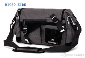 Huwang Photo Camera DSLR Video Canvas Shoulder Bolsa impermeable Trípode de viaje Soft Acolchada Carrying Bags para Canon Nikon SLR