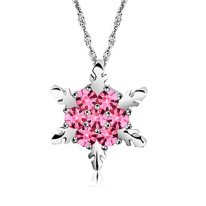 New Fashion Snowflake Collana con ciondolo in cristallo Collana con collo stile OL Collane per donna Regali di Natale Choker Jewerly