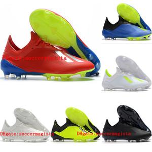 2018 erkek düşük ayak bileği futbol cleats x 18 erkek deri futbol ayakkabı X 18.1 FG futbol çizmeler açık Siyah scarpe calcio