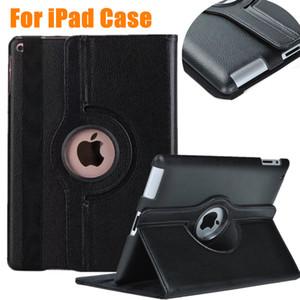 """Funda de cuero de la PU Cubierta giratoria 360 ° Flip Stand Tablet Fundas para laptop para Apple iPad Pro 9.7 """"mini 2 3 4"""