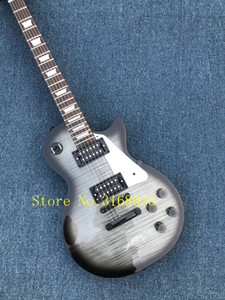 Custom 1959 R9 VOS Trans Black Joe Perry Cadillac Electric Guitar Tiger Flame Maple Top Trapezoid White Mother of Pearl Inlay Black Hardware