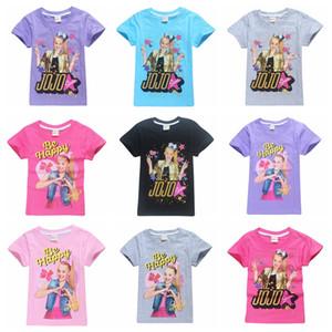 18 цветов большого размера девочка JOJO SIWA футболка горячего надувательство 120-160 девушка мило хлопок тенниски дети летнего топ тройников дети одежда