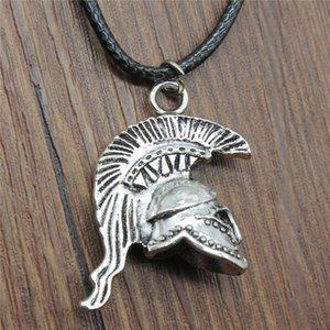 WYSIWYG 5 шт цепи кожи ожерелья Подвески Колье воротник Урожай ожерелье ручной 3D ретро римский солдат шлем 36x28x14mm N6-B13470