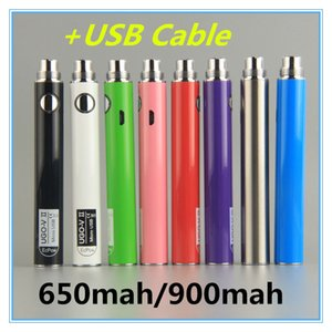 Vape Battery UGO V II 2 650 900mah Batteries micro USB Passthrough Charge with USB Cable Vaporizers Vape Pens 510 Thread Cigarettes Battery