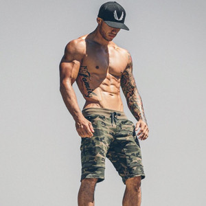 Mens Gym Fitness cotton camouflage shorts Run jogging outdoor sports Calf-Length Crossfit Sweatpants Man workout short pants
