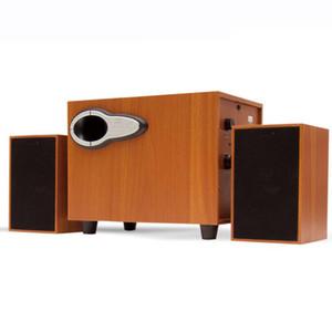 Ahşap Kombinasyonu Surround Stereo Ev Sineması Hoparlörler TV için Stereo USB Kablolu Soundbar Müzik Subwoofer Dizüstü TV Bilgisayar için