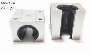 20pcs / lot SBR25UU SME25UU 25mm type ouvert unité de cas linéaire bloc linéaire roulement blocs pour routeur cnc 3d imprimante