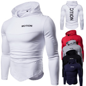 T-shirt 2018 autumn new European and American trend hooded long-sleeved T-shirt European code large size wild bottoming t-shirt