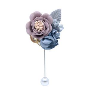 Свадебные принадлежности Корейский ткань Свадебные украшения Жених невесты Свадебная Брошь Творческий симуляционный PIN-код Фейерверки