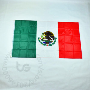México Banner habitación colgando de nacionalidad mexicana gratuito 3x5 envío FT 90 * 150cm de la bandera nacional para el Festival de la copa del mundo de la decoración del hogar México