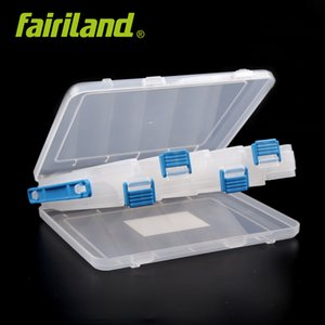 Fairiland متعددة الوظائف الصيد معالجة مربع 12 المقصورات مزدوجة الجانب إغراء صناديق الطعم شفافة هوك المنظم الطعم