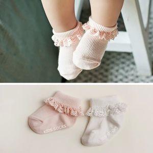 2 Pairs lot Fashion Lace Baby Socks Newborn Cotton Baby Girls Sock Cute Toddler Socks Princess Party