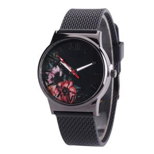 wengle New personality Flower core flower bud pattern Simple fashion luxury gift dress Silica gel Quartz watch