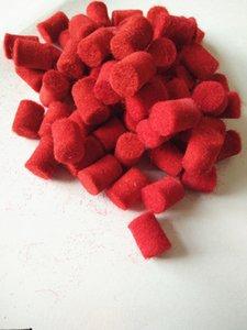 100 pezzi accessori per manutenzione sassofono in feltro di lana cilindrica rosso