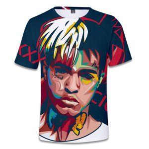 Rap Singer xxxtentacion R.I.P 3D Camiseta para Hombres Mujeres Verano O-cuello de Manga Corta Rapero Camisetas Hombre Hip Hop Camiseta Homme