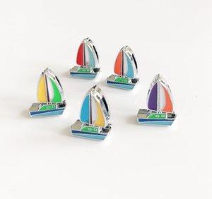 10 pcs 8 MM émail couleur mixte voilier diapositives charmes perles accessoires de bricolage fit 8 mm collier ceintures bracelets