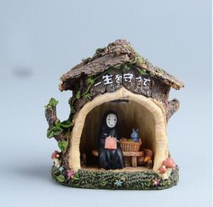 Hayao Miyazaki Espirituoso Ausência Kaonashi Resina Estatueta Crianças Brinquedos Japão Anime Estúdio Ghibli Sem Rosto LEVOU Luz Modelo de Figura de Ação