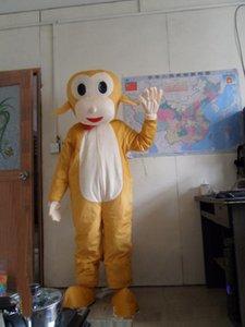 2018 Venda de fábrica quente Lindo Salto Macaco Salto boneca dos desenhos animados Traje Da Mascote Frete grátis