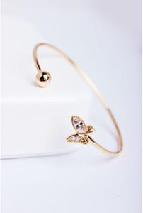 Avrupa ve Amerikan patlayıcı ticaret moda altın kelebek açıklıklar Bilezik yaldızlı Bilezik kadın fabrika toplu satış
