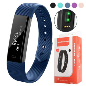 115 HR Smart Bracelet Fitness Heart Rate Tracker Step Counter Activity Monitor Band Alarm Clock Vibration Wristband With DayDay APP