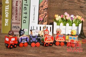 Train modèle en bois jouets, style de pain de dessin animé Superman, jouets éducatifs magnétiques, pour les cadeaux de fête «anniversaire» pour enfants, la collecte, décorations pour la maison
