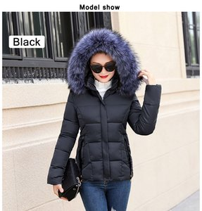 Fake fur collar Parka down cotton jacket 2018 Winter Jacket Women thick Snow Wear Coat Lady Clothing Female Jackets Parkas
