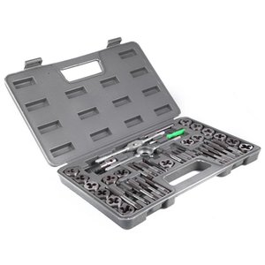 40Pcs justierbare metrische Gewindebohrer-Halter-Gewinde-Messgerät-Schlüssel-Werkzeuge mit Plastikfall-T-Griff Hahn-Halter für das Threading Reparatur