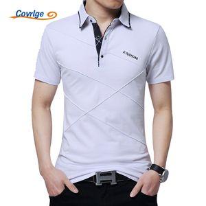 Covrlge Breathable Plus Size 3xl 4xl 5xl Polo Hombres Manga Corta Polos Transpirables Marca Slim Fit Camisetas Hombre Polos Jersey