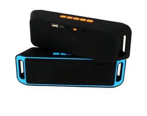 SC208 mini Bluetooth altavoz Bluetooth 4.0 estéreo subwoofer altavoces de la radio del TF USB micrófono incorporado Dual Bass Sound Box nave de DHL