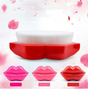 2018 New Sexy Lip Shape Makeup Brushes Foundation Brush Facial cleansing Brush Bath Brushes Multifuntional Make Up Tool
