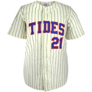 Tidewater Tides 1972 Inicio Jersey 100% bordado cosido Logos Vintage Baseball Jerseys Custom Cualquier nombre Cualquier número Envío gratis