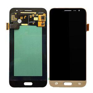 Geprüfte LCD-Anzeige für Samsung Galaxy J300 J3 2015 LCD-Bildschirm mit Tools Helligkeit ist nicht einstellbar. Kostenlose DHL-Montage