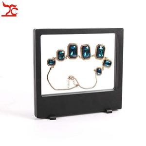 Venta al por menor PET Membrana de plástico Multifuncional Joyería Display Window Necklace Charm Pulsera Reloj Accesorios Display Box 18 * 20cm