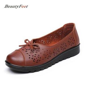 BeautyFeet 2017 Sonbahar Yeni Düz Platformu Anne Ayakkabı Kadın Oxford Hollow Kadın Ayakkabı Kadın Katı Yumuşak Alt Moda Rahat