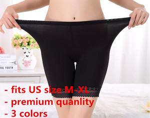 M-XXL PLUS Europee Size Quality Modal Elastic Stretch Pantalone Legging Underpants Pantaloncini di sicurezza Intimo Mutandine Collant Jogging Solido