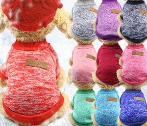 Klasikleri Pet Köpek Kazak Coat Giyim Sonbahar Sıcak Defansif Soğuk Pamuk Yavru Kedi Örgü Köpekler Sweatershirt Giyim a843
