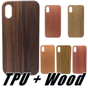 Real Wood с ТПУ Пограничный телефон Shell чехол для iPhone 11 Pro Max XS X Xr Xs Max 8 6 7 Plus Real Wood Портфели Real Wood Обложка