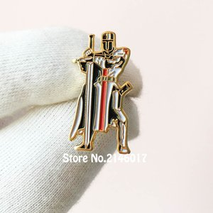 50pcs personalizzato Pins Metal Badge massonica libero massoni Guardia Spada Templari Seal crociati Solomons Temple Lapel Pin Spilla